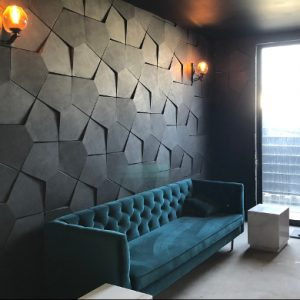 modern blue lounge suite